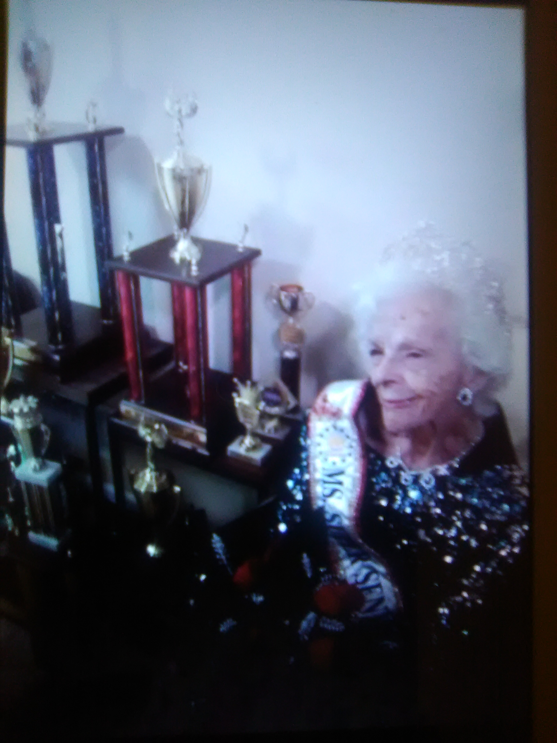 JUNE LYNNE LACEY WITH ALL THE TROPHIES SHE WON ONLY A MONTH BEFORE SHE WAS TAKEN PRISONER, HAD ALL HER HUMAN RIGHTS VIOLATED AND HER UNITED STATES CONSTITUTIONAL RIGHTS TAKEN AWAY!